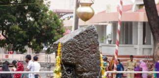 famous roofless temple of Shani Dev