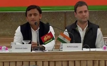 Rahul Gandhi and Akhilesh press conference together fiercely attacked BJP
