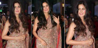 Katrina Kaif appeared in sari at the wedding reception of Neil Nitin