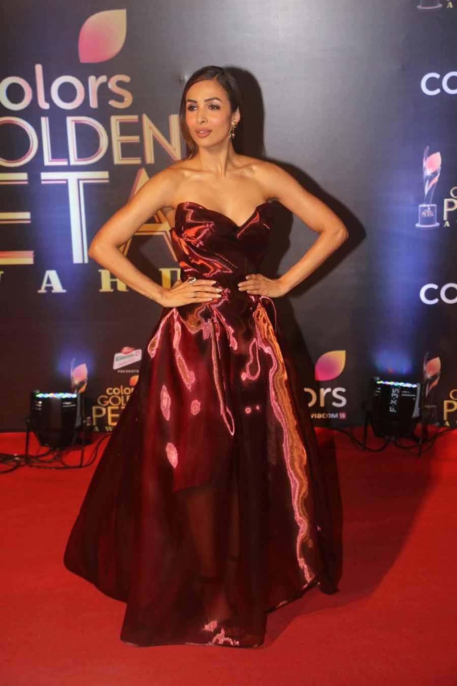 Malaika Arora Khan looking beautiful during the award show