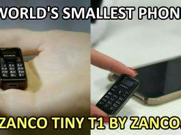 World Smallest Phone Zanco Tiny t1
