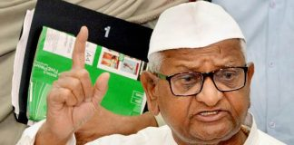 Once again, Anna's sits on fast for lokpal