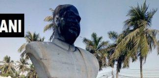 Now the idol of Shyama Prasad Mookerjee damaged in kolkatta